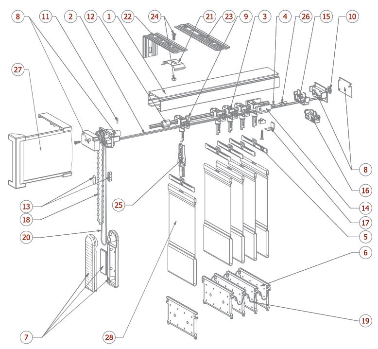 Схема крепления вертикальных